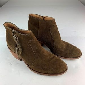 Madewell booties boots brown suede Leather Sz 7.5